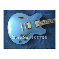 Wholesale Sky Blue Guitar - Top quality Dave Grohl Metallic Blue Electric Guitar wholesale,sales promotion cheap guitar