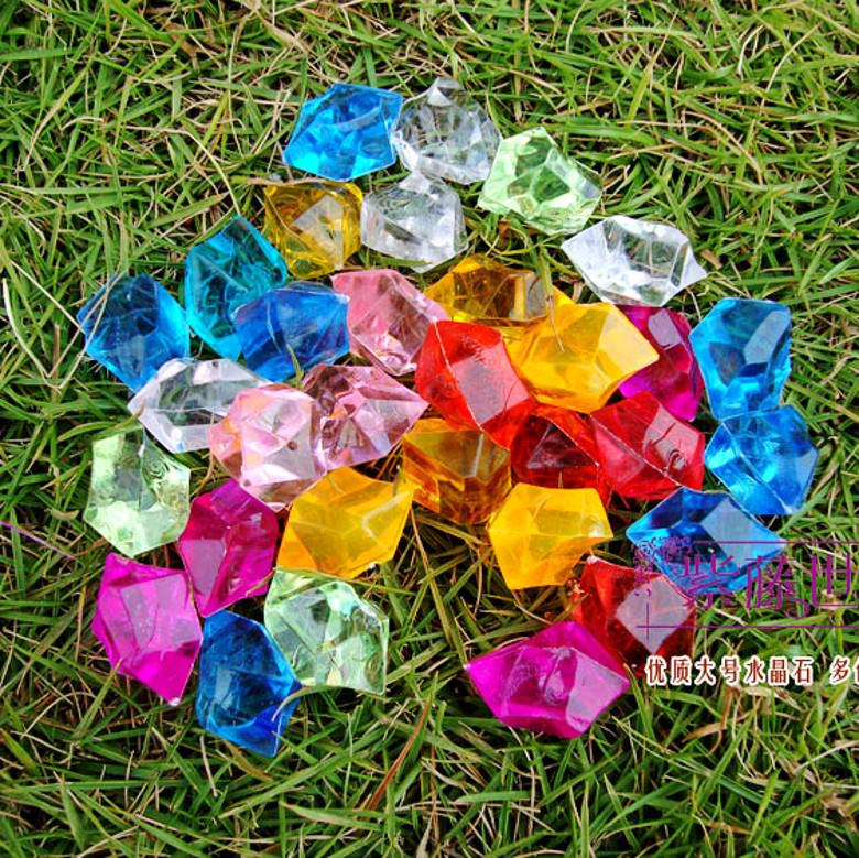 acrylic crystal diamond colorful fake stone diy decoration