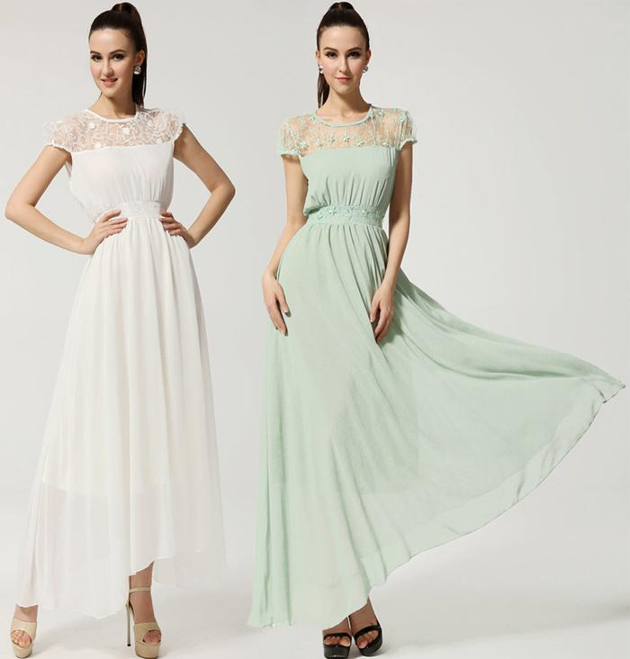 Evening Gowns Short Sleeves