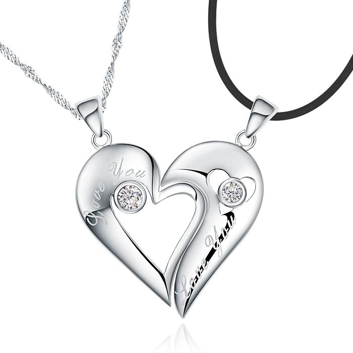 Wholesale expression of love jpf couple necklace couple pendant see larger image mozeypictures Image collections