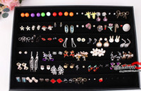 Wholesale Cheap Showcase Display - Jewelry Earrings Tray Display Jewelry Studs Trays Display Holder cheap jewelry showcase case Jewelry 60 Pairs Earrings holder PB1