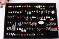 goujons de pendentifs achat en gros de-Bijoux Boucles D'oreilles Plateau D'affichage Bijoux Studs Plateaux Support D'affichage pas cher bijoux vitrine cas Bijoux 60 Pairs Boucles D'oreilles titulaire PB1