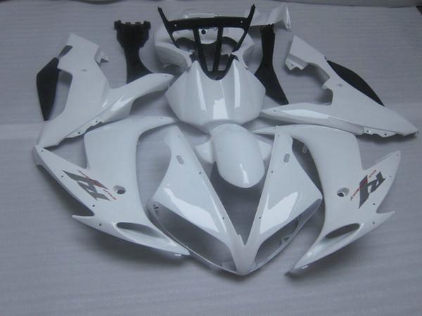 All white ABS carroçaria para 2004 2005 2006 YZF R1 YZFR1 04 05 06 YZF-R1 kit de carenagem completa + dom gratuito
