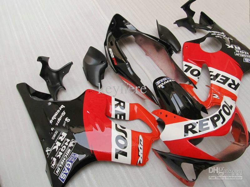 Fairings for Honda CBR F4 1999 2000, CBR600 F4 99 00 Sliver Svart Fairing Kit Replacement Bodywork