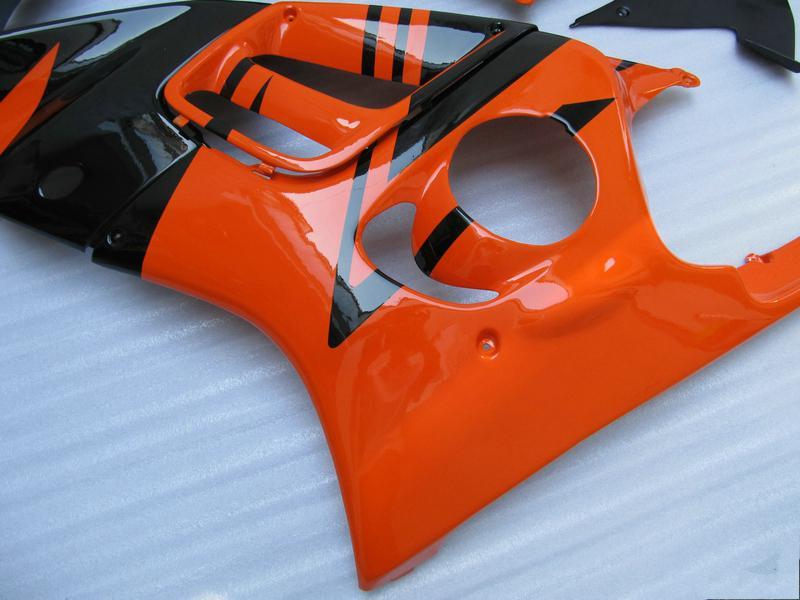 Fullständig uppsättning Orange Motorcykel Fairing Kit för CBR600 F3 1995 1996 CBR600F3 CBRF3 95 96 + Vindruta