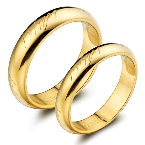 Jpf 925 Sterling Silver 18k Gold Plated Couple Rings Couple Rings