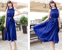 Wholesale Dress Bohenmia - Women Sweet lovely Bohenmia Princess Chiffon Maxi long dress Seven Colours