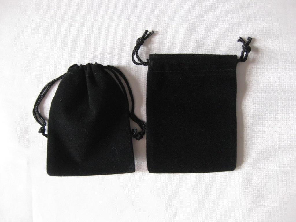 Black velour velvet bag gift bags jewelry pouches