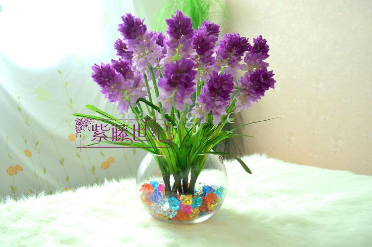 Colorful Royal Crystal Diamond stone artificial flower fish tank decor