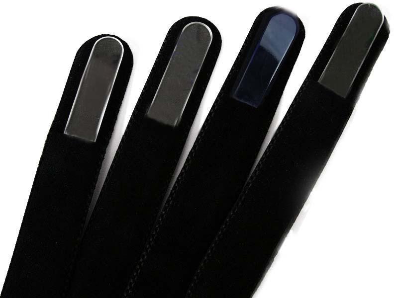 100X Nail Files Sleeve Black Velvet Case Suit for Glass Files Size 5 ...