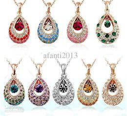 Wholesale Swarovski Crystal Necklace Heart - Austria swarovski crystal elements of the crystal angel tear drops necklace alloy panel