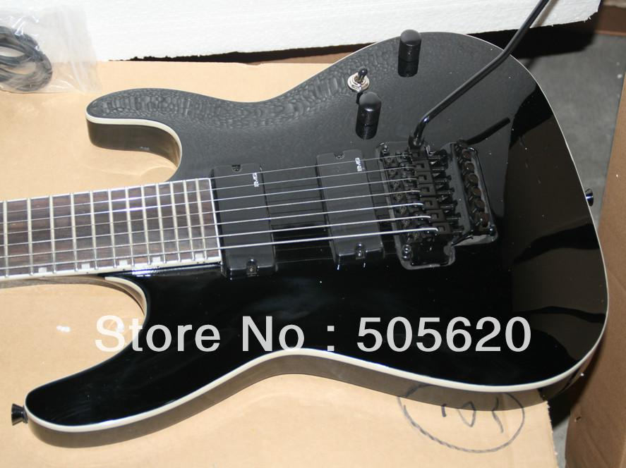 new arrival guitars 7 strings electric guitar in black musical instruments wholesale classical. Black Bedroom Furniture Sets. Home Design Ideas