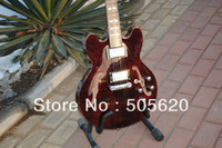 Wholesale New Guitar Abalone - Free Shipping Brown Maple Classic Jazz Guitar Abalone Binding 2013 New Arrival Wholesale