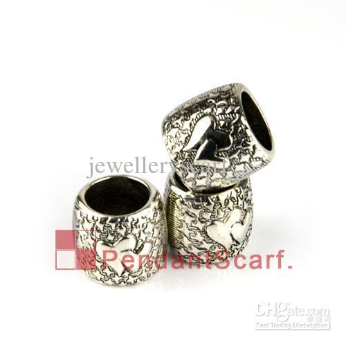 12 stks / partij, Top Mode Sieraden Ketting Sjaal Hanger Plastic CCB Love Heart Design Slide Holding Tube Bails Charm, Gratis Verzending, AC0144