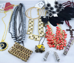 Wholesale Necklaces Pendants Mixed Crystal - Europen Style Fashion Vintage Punk Jewelry Pendants Mix Necklace Sold By Weight 500g lot WT4