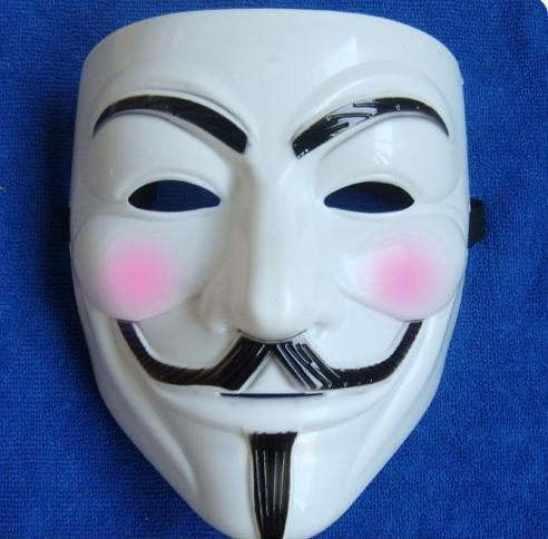Free Shipping 20pcs Hot sale V Mask FOR Vendetta Anonymous Movie Adult Guy Mask White Color Halloween Cosplay