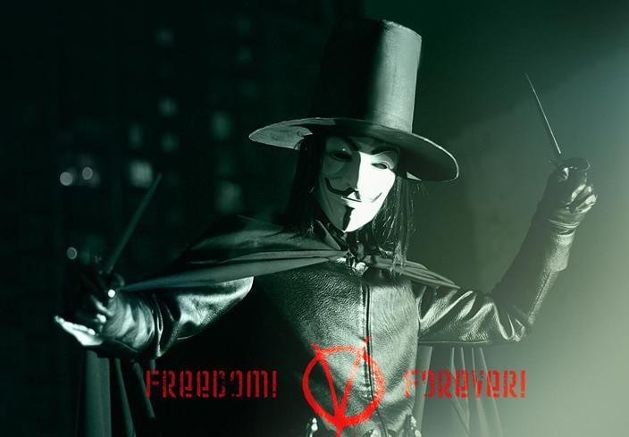 Frete Grátis venda Quente V Máscara PARA Vingadora Anonymous Filme Adulto Guy Máscara Cor Branca Halloween Cosplay