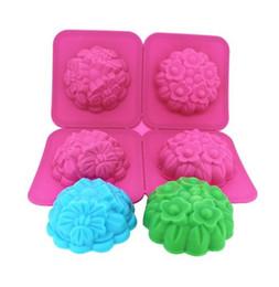 Canada Deux sortes de fleurs Silicone Moule / gâteau pouding cuisson / DIY savon fait main / chocolat moule / crème glacée silicone Moule décorations Offre
