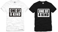 Wholesale Kind Sleeves - Free shipping Chinese Size S--XXXL retail 1 piece new G-dragon GD one of a kind printed T-Shirt hip hop t shirt 100% Cotton 6 color