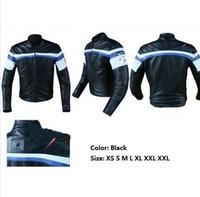 Wholesale Racing Motorbike Leather Jackets - PU Jacket motorcycle leather riding racing jacket motorcross jackets motorcycle locomotive jackets Motorbike Jackets Size M L XL XXL