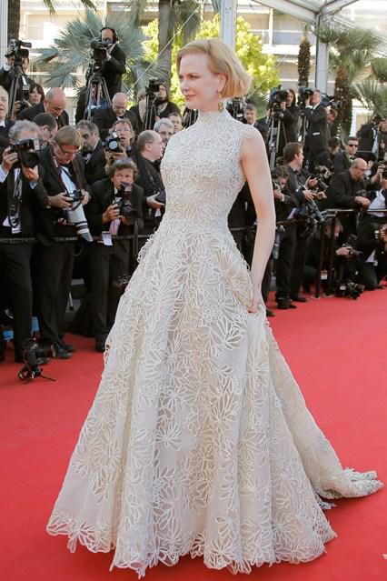 2015 Cannes Film Festival Nicole Kidman Ivory Exquisite Floral ...