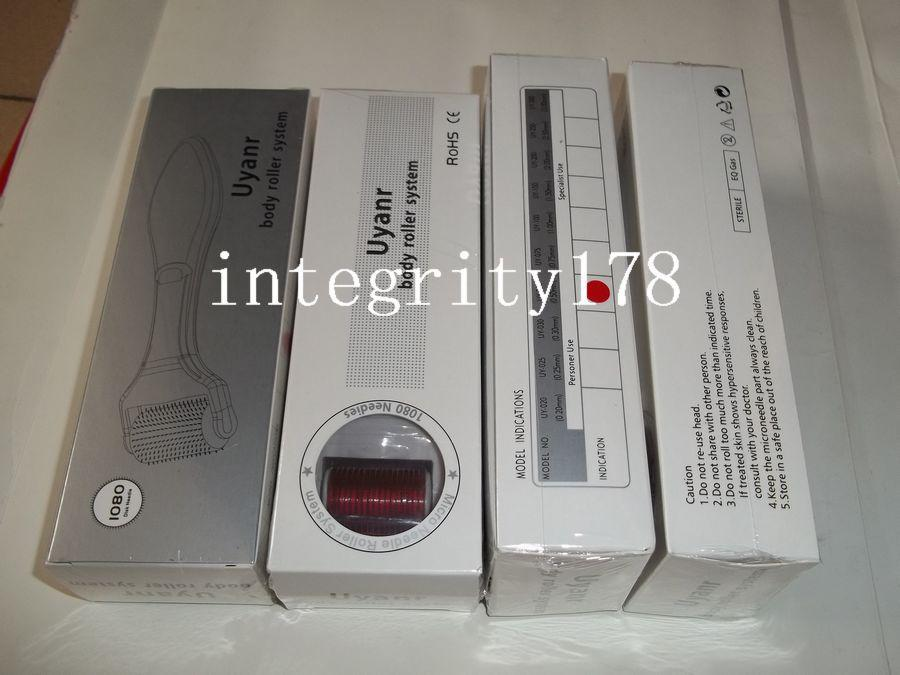 mini order of 1080 Titanium needle Body Derma Roller, titanium dermaroller, skin beauty roller