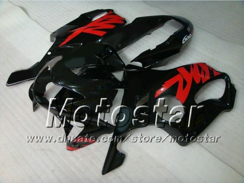 Personalizado preto vermelho motocicleta Fairings kit para Honda CBR600 F4 1999 2000 CBR600F4 99 00 CBR 600F4 kits de Carenagem