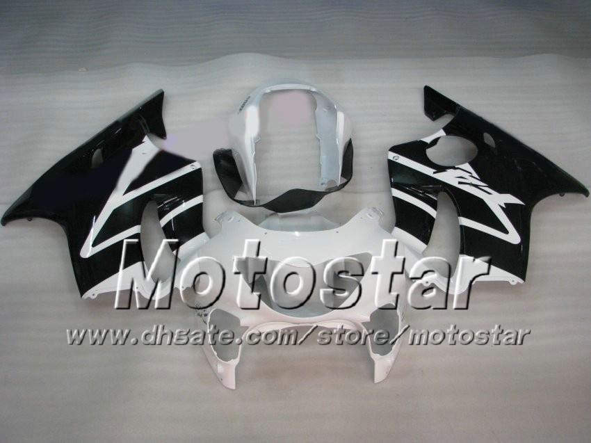 7 Gifts fairings bodywork for HONDA kit CBR 600 CBR600 F4 99 00 CBR600F4 1999 2000 glossy white black custom aftermarket fairing af52
