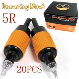 "Wholesale Humming Bird Tattoo Machine - 20x5R Good Quality Tattoo Machine Grips Humming Bird Tube Sterilized 1""(25mm) MAG Tips Size Kits Supply"