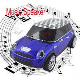 Wholesale Speaker For Iphone4 - AN-M1 Mini Portable Color Car Loudspeaker Music Speaker TF +USB FM Radio LED Stereo for iPhone4 4S iPhone5 iPod Samsung S4 SIV i9500