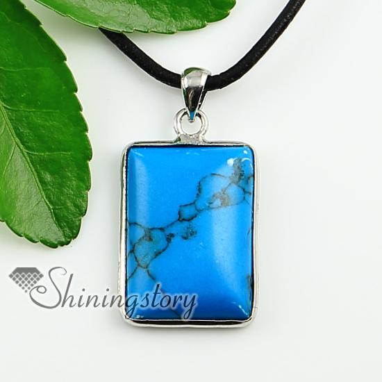 oblong turquoise rose quartz glass opal jade agate natural stone pendants for necklaces Cheap china jewelry fashion jewelry Spsp1454CY0