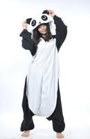 Wholesale Cute Panda Cosplay - Kigurumi Pajamas Kung Fu Panda Cosplay Costume Pyjamas sleepwear Cartoon Soft Cute Animal nightclothes Night suit Free shipping