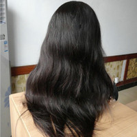 Wholesale Malaysian Virgin Full Lace Wigs - 10-24inches Natural Straight Malaysian Virgin Human Hair Full Lace Wigs