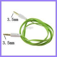câble de rallonge plat pour nouilles achat en gros de-Câble de nouilles plat audio de voiture Aux Extension colorée de 100 cm à 3,5 mm pour MP3 pour iphone 4 5 200pcs / lot