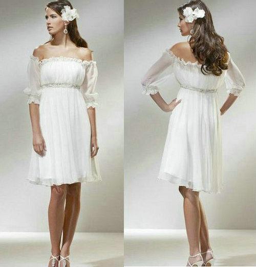 Resultado de imagem para wedding dress short beach