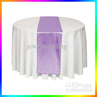 wholesale 5 piece lavender light purple satin table runner wedding table cloth runners holiday favor party banquet decoration