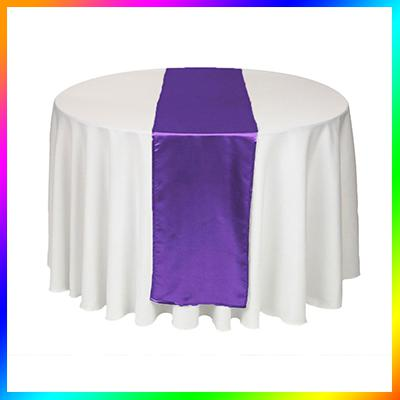 roxo violeta do favor Tabela Satin Runners casamento pano Runners férias tabela do partido Hot Sale runnrs para festa de casamento