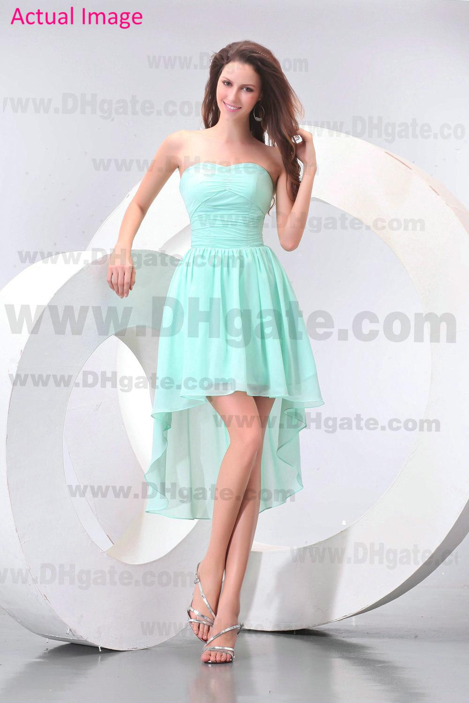 2013 beach mint green hi lo bridesmaid dresses chiffon tea length see larger image ombrellifo Choice Image