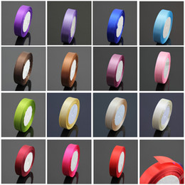 "Wholesale Mixed Satin Ribbon - 10 Rolls 3 4""(20mm) Satin Ribbon Wedding Party Craft Sewing Decorations (1 Roll 25yds) Mix Colors"