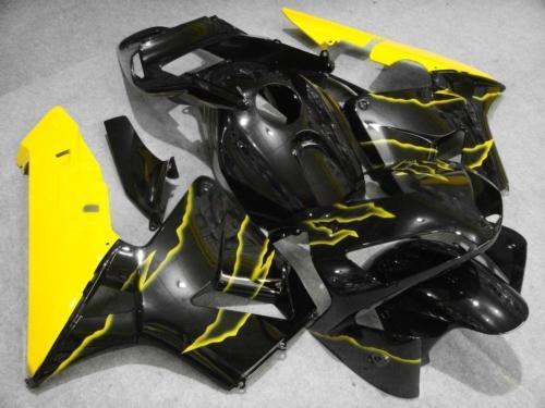 사출 성형 옐로우 블랙 정형 키트 FOR CBR600RR F5 2003 2004 CBR 600 RR 03 04 CBR600 600RR