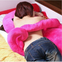 Wholesale Amazing Red Roses - Hot Sale Amaze Christmas Gift Giant Octopus Styles Cushion Pillow Yellow Pink Blue Rose Red Four Colors Free Shipping