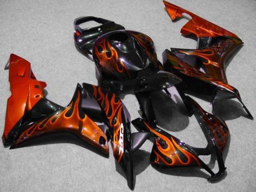 kit de carenagem moldada por injeção de chama vermelho-ouro PARA CBR600RR F5 2007 2008 CBR 600 RR 07 08 CBR600 600RR