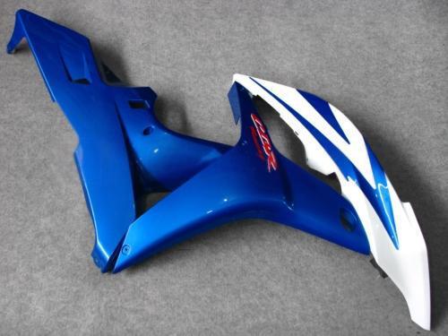 Kit de carenagem moldado por injeção branco BLUE PARA CBR600RR F5 2007 2008 CBR 600 RR 07 08 CBR600 600RR