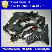 Wholesale Cbr F4i Body Kits - 7 Gifts fairings body kit for HONDA CBR600F4i 01 02 03 CBR600 F4i CBR 600 F4i 2001 2002 2003 flat black gray motorcycle fairing af56