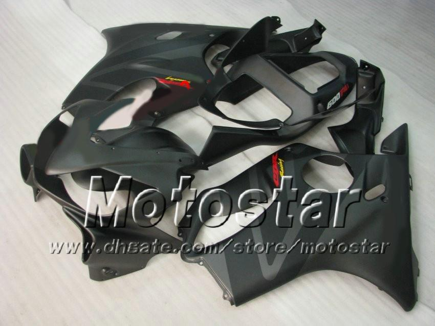 7 Gifts Carnaves Bodywork para Honda CBR600F4I 01 02 03 CBR600 F4I CBR 600 F4I 2001 2002 2003 Placa de motocicleta gris negra plana