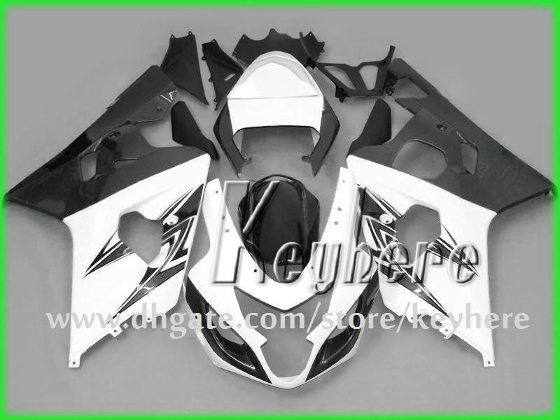 Kit carena custom SUZUKI GSXR 600 04 05 GSX R600 R750 2005 2005 K4 Carrozzeria GSXR600 GSXR750 GS9R650 bianco nero
