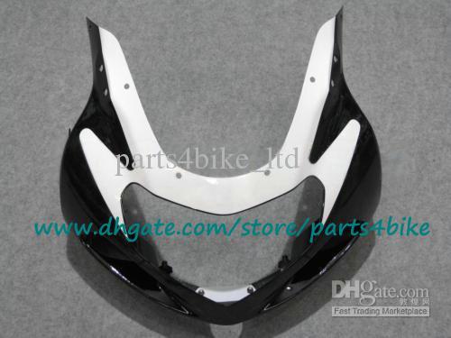 Set carrozzeria moto custom ABS SUZUKI 00 01 02 GSX-R1000 K2 GSXR1000 2000 2001 2002 kit carene plastiche bianco / nero con 7 regali