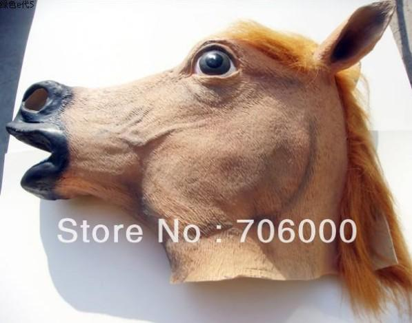 Cabeça de máscara de cavalo assustador Halloween Teatro Profete Novidade Borracha de látex