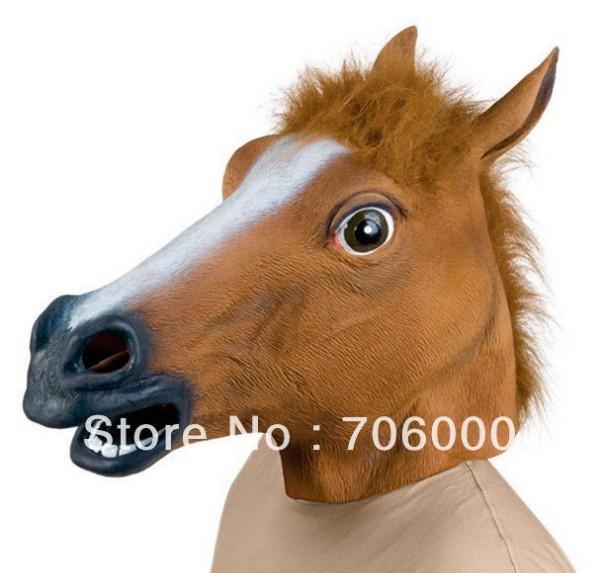 زاحف الحصان قناع رئيس هالوين زي مسرح الدعامة الجدة المطاط اللاتكس