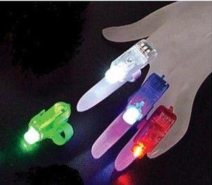 Kerstcadeaus LED Heldere Vinger Ring Lichten Rave Party Glow 4x Kleur Kinderen Speelgoed Gratis Verzending
